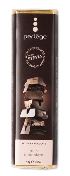 Perlége млечен шоколад без захар